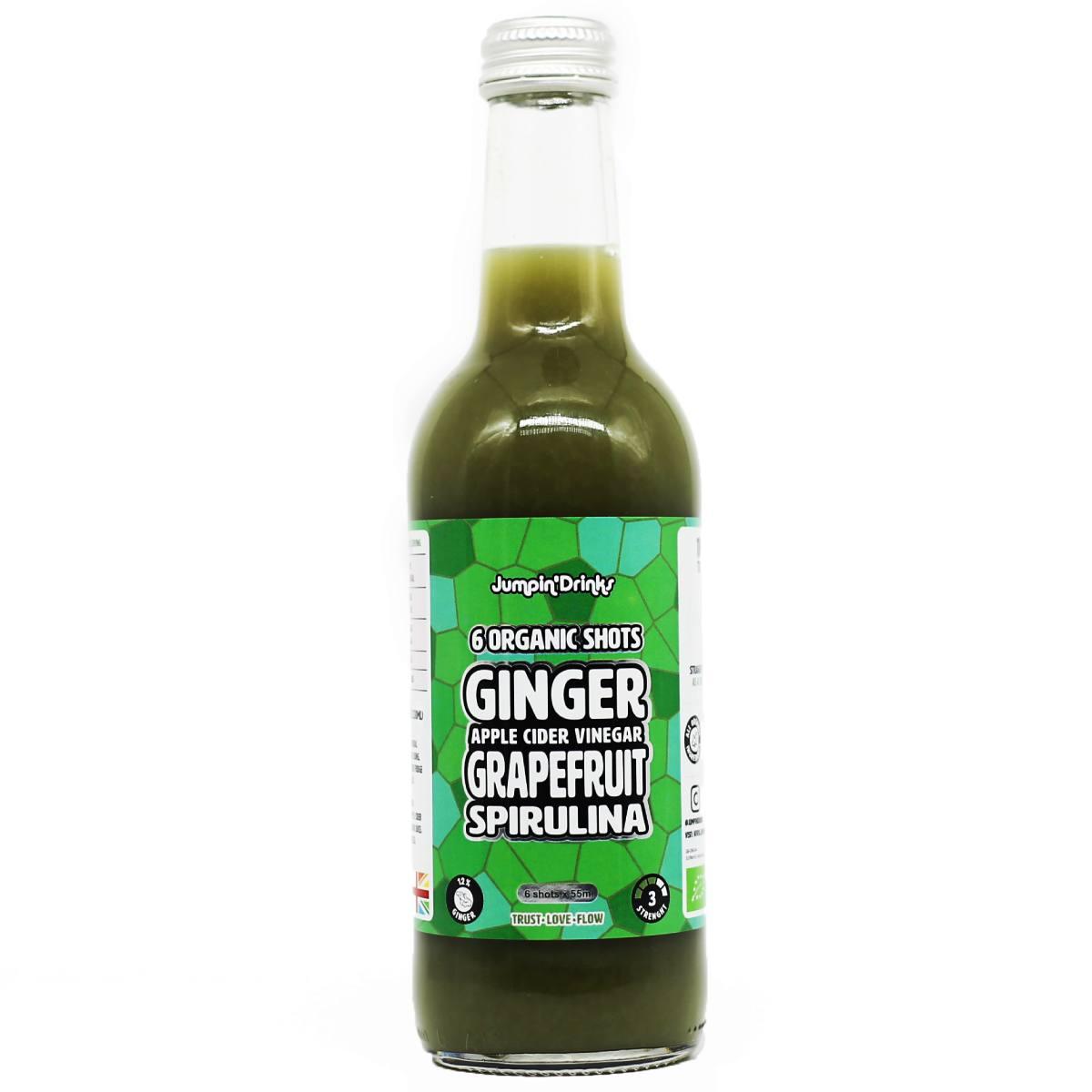 Ginger, Apple Cider Vinegar, Grapefruit, Spirulina Shots