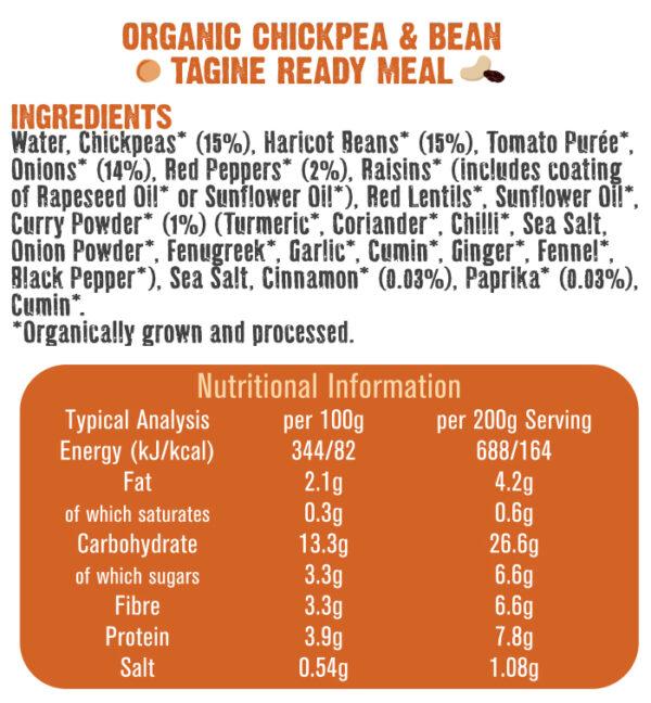 Chickpea & Bean Tagine Ingredients